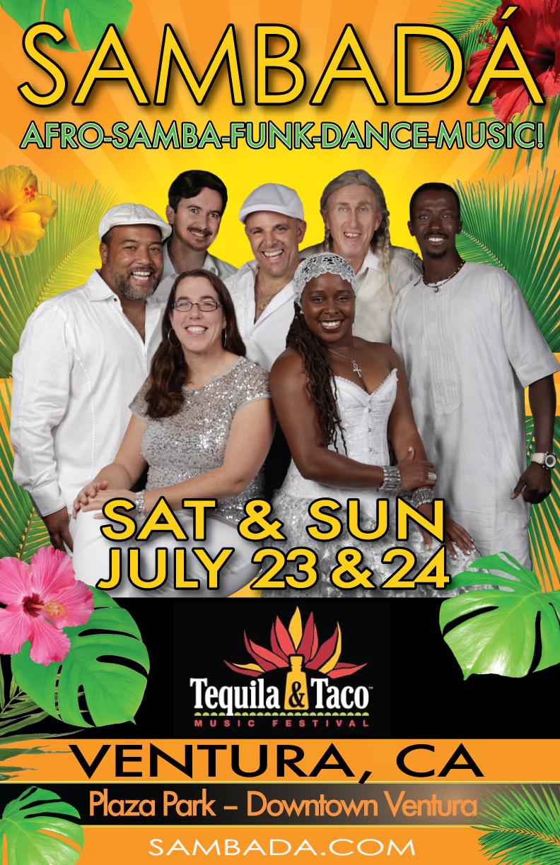 SAT&SUN.JUL.23-24 – TEQUILA & TACO FESTIVAL – VENTURA, CA