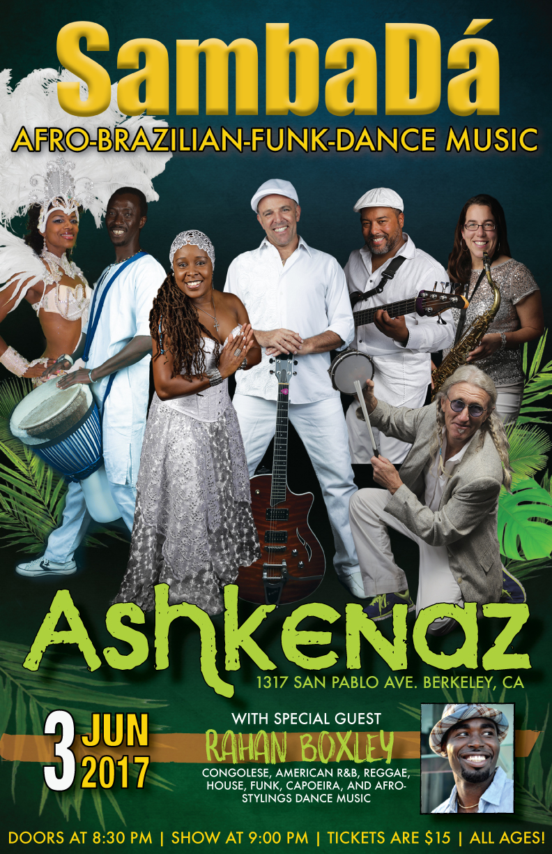 SAT.JUN.3 – ASHKENAZ – BERKELEY, CA