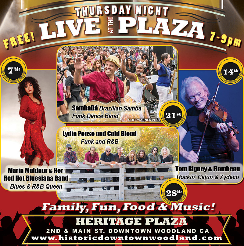 THURS.SEPT.21 – HERITAGE PLAZA – WOODLAND, CA