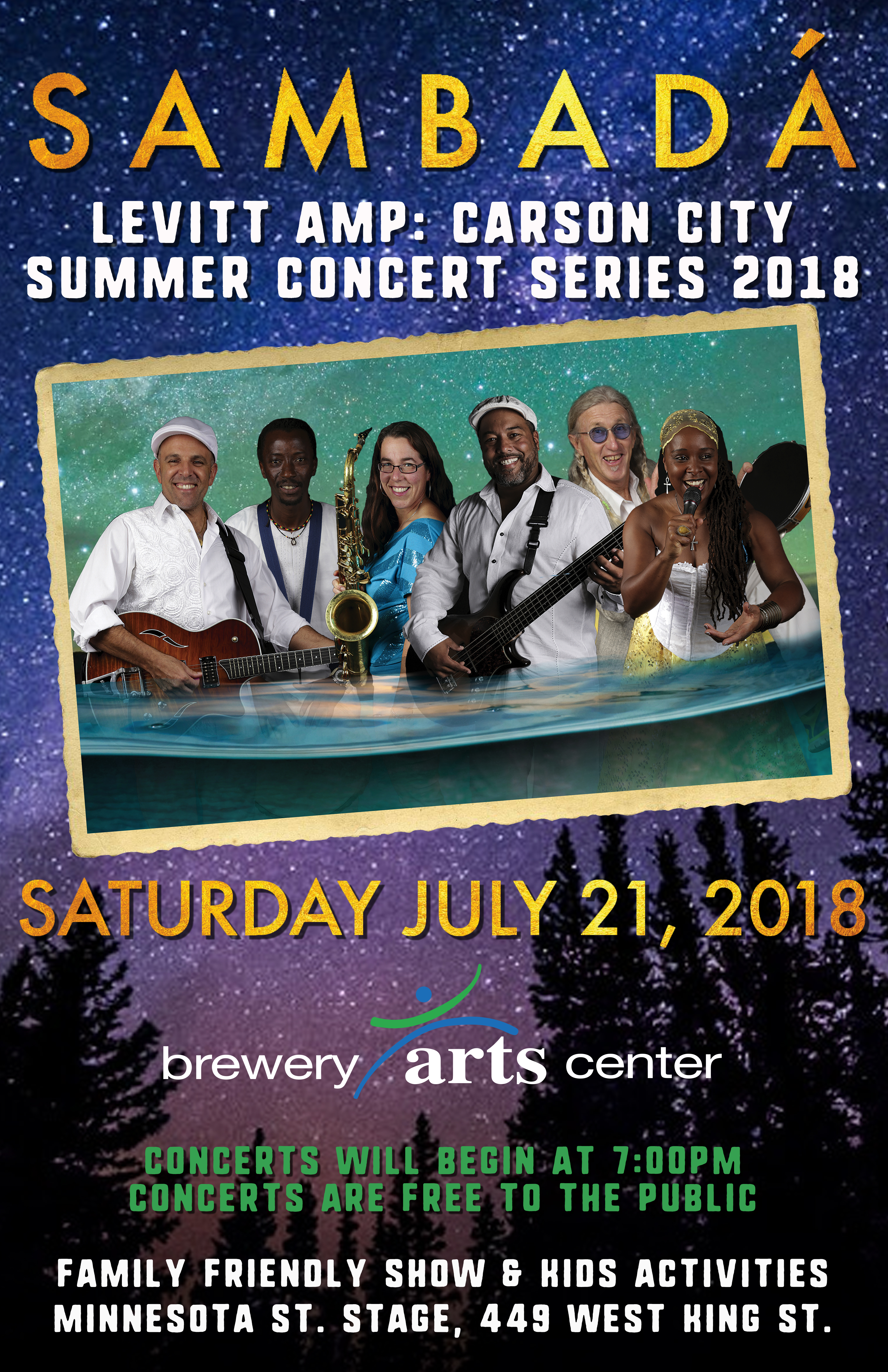 SAT.JULY.21 – BREWERY ARTS CENTER – CARSON CITY, NV