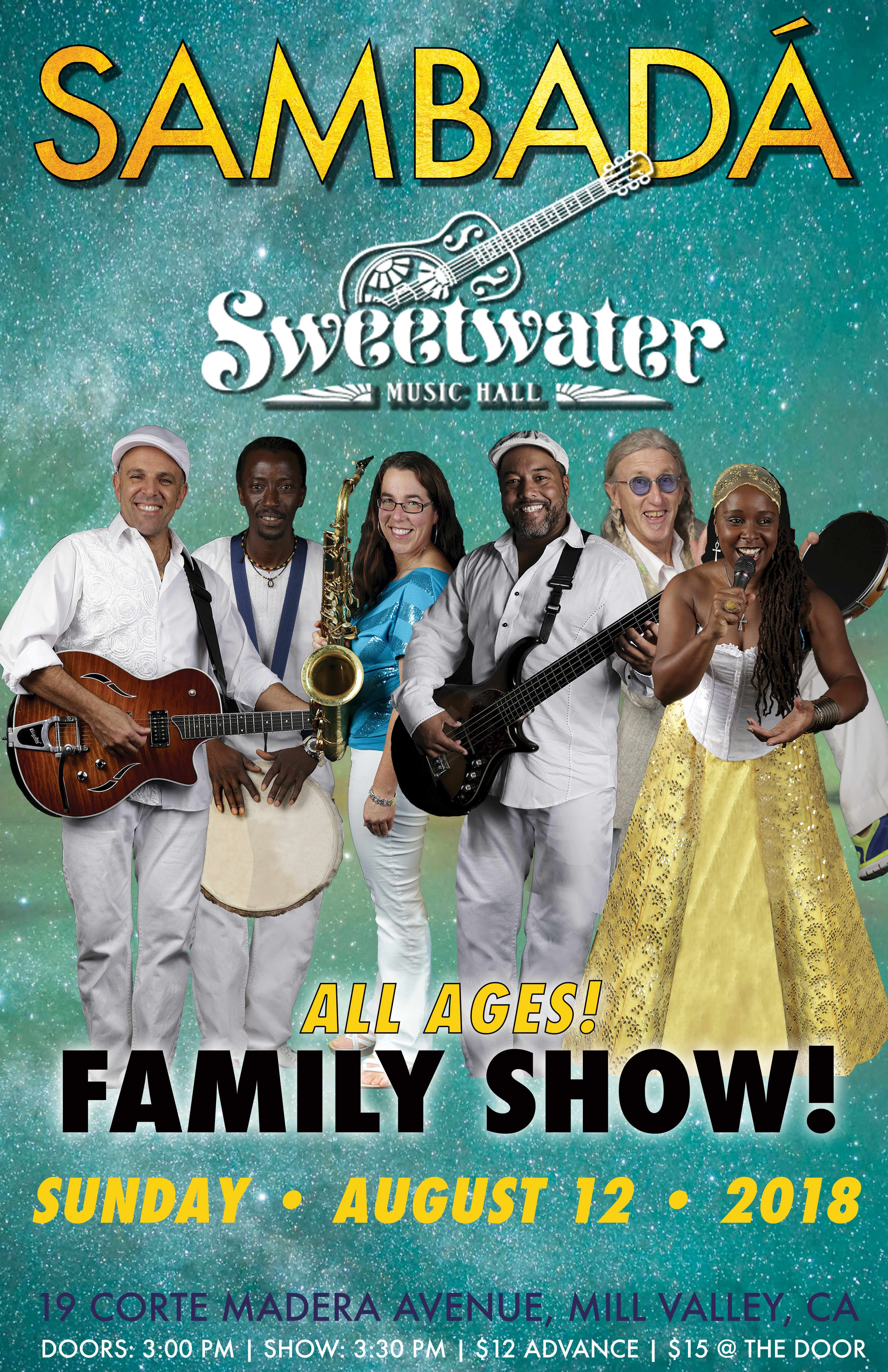 SUN.AUG.12 – SWEETWATER MUSIC HALL – MILL VALLEY, CA